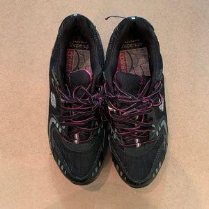Sketchers Shape Up Sneakers Black & Pink, Size 8.5